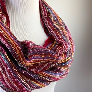 Multicolored infinity scarf